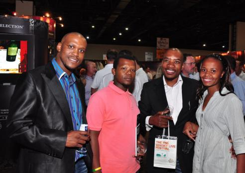 Visitiors at the FNB Whisky Live