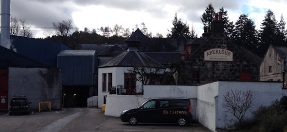 Aberlour Distillery site where the famous Speyside Malt Whisky is produced