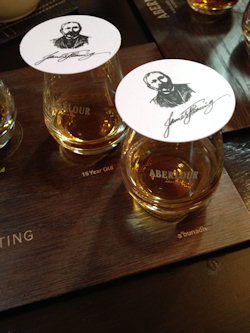 Aberlour tasting samples of whisky