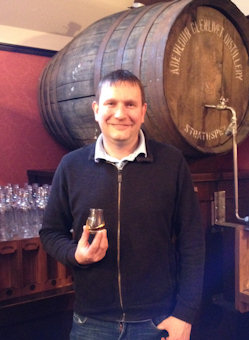 Alan Hubner - Owner of Planet Whiskies sampling a Aberlour Speyside Malt