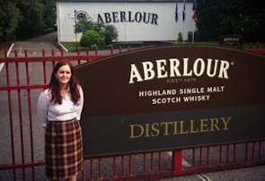 Emma Reid our tour guide around Aberlour Distillery