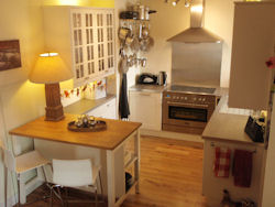 A view of the kitchen at this Moray cottage