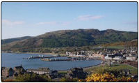 View over the Scottish town of Campbeltown