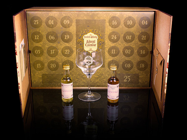 Jack Daniels Advent Calendar.The Scotch Whisky Advent Calendar Angels Share Glass