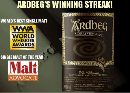 Ardbeg's Winning Streak - World's Best Single Malt and Single Malt of the Year