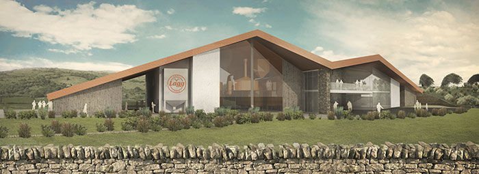 Artist impression on the new Arran Distillery - Lagg