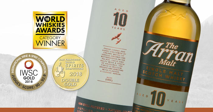 Isle of Arran Distillers claim four top prizes at international competition: 20th August, 2018