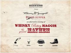 Auchentoshan Presents The William Mcgonagall Burns Supper 9th