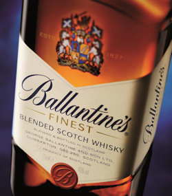 Ballantine's New Look Label on 'Finest' Blended Scotch Whisky