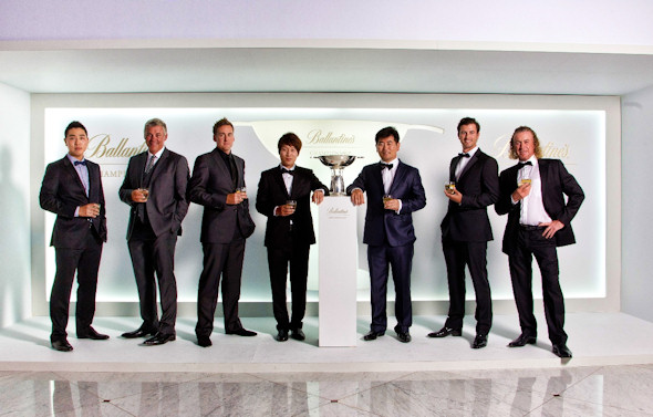 Bae Sang-moon, British Open champion Darren Clarke, Ian Poulter, Kim Kyung-tae, YE Yang, Adam Scott and Miguel Angel Jiménez