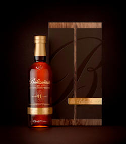 Ballantine's Championship Bottle 2013 Cabinet with Bottle Leather.
