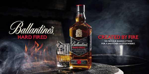 Ballantine's Hard Fired Unveiled :: New Scotch whisky born from bespoke extra char process :: 5th November, 2015