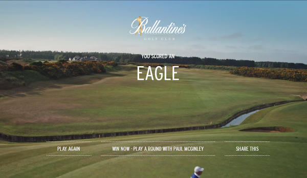 Ballantine's Creates The World's First Gamified Golf Content For Fans Around The World :: 27th September, 2016