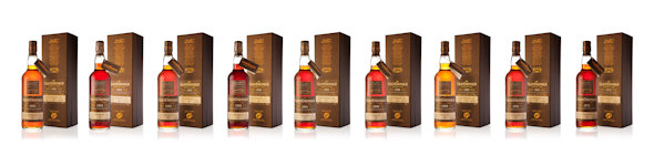 Full range of BenRiach Batch 9 bottles