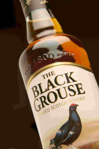 A Bottle of the Black Grouse Blended Scotch Whisky.