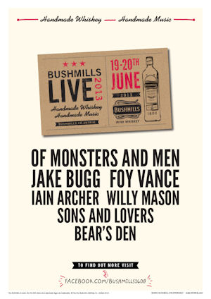Jake Bugg to Join the Bill for Bushmill Live 2013 - 19/20th June 2013