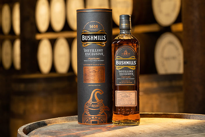 Bushmills Irish Whiskey introduces new limited-edition single malt aged in indestructible Acacia wood casks