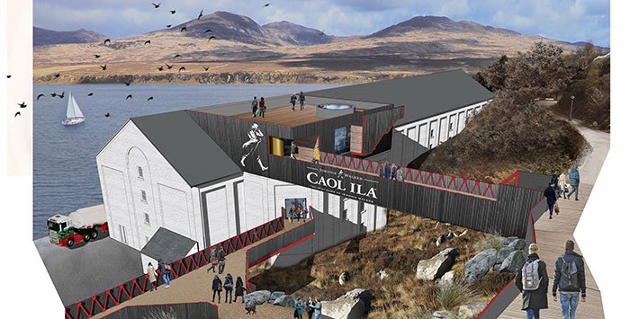 Caol Ila Distillery visitor experience transformation plans submitted