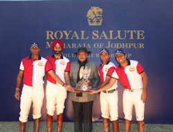 Royal Salute Cup - Maharaja of Jodhpur Toasts Diamond Jubilee Year as the 61st Cavalry Team Claim Victory- 3rd January, 2013