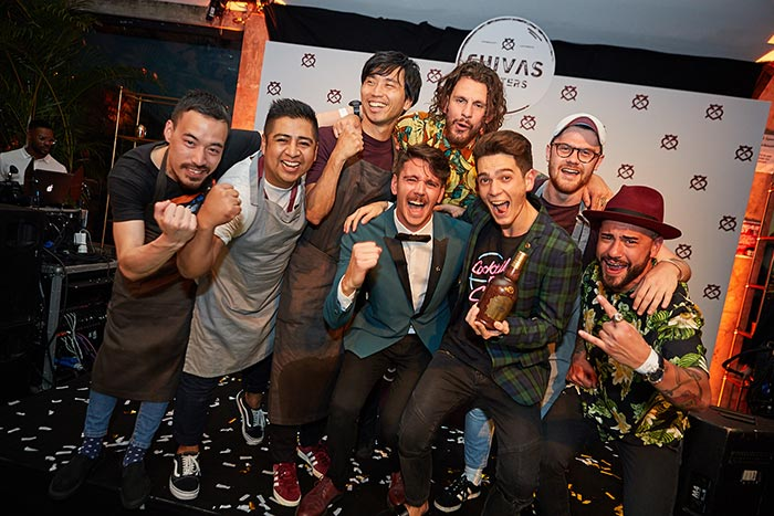 Winner of the 2017 Chivas Masters Cocktail Competition, Rhys Wilson and the rest of the finalists