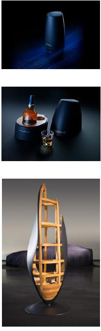 Three expressions of Chivas 18 by Pininfarina - Limited Edition 1 and 2, and Chivas 18 Mascherone by Pininfarina