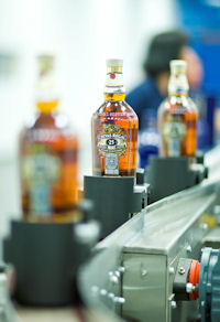 Chivas Regal 25 runs off the new luxury bottling line installed by Chivas Brothers at its Paisley site