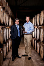 Ballantine's Master Blender Sandy Hyslop and the 2010 Ballantine's Championship winner Marcus Fraser