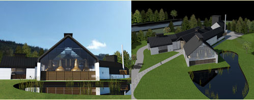 Plans for the new Chivas Brother Distillery in Speyside