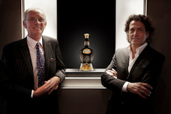 Royal Salute Master Blender Colin Scott and Garrard Creative Director Stephen Webster with The Tribute To Honour
