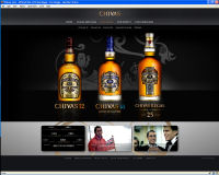 A screen shot of the new global disgital platform from The Chivas Brothers