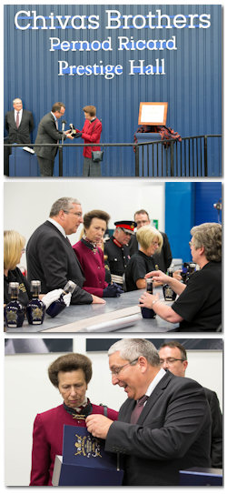 The Princess Royal Opens New Bottling Facility at Chivas Brothers Paisley - 17th September, 2013