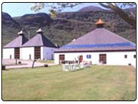 A photo of the Arran Scotch Whisky distillery.