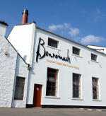 A view of the front at Benromach Distillery in Speyside