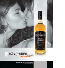 A photo of the Clontarf Kiss. This photo relates to the Clontarf Single Malt Brands.