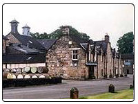 A photo of the Dalmore Distillery in Brora, Scotland