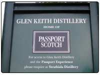 Signpost for the Glen Keith Disitllery