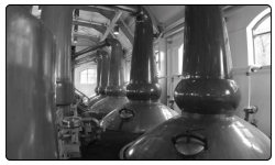 A photo from inside the Glenrothes Distillery