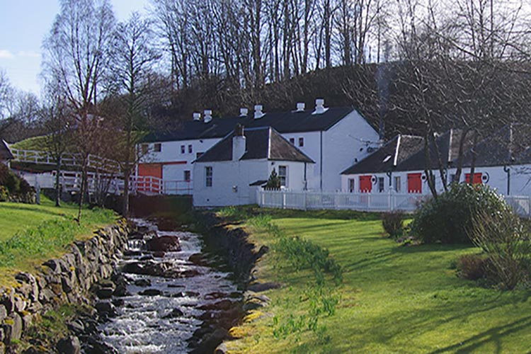 A photo of the Edradour Distillery in Perthshire