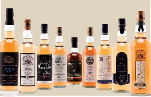 Range of Duncan Taylors whiskies - Independent Bottler