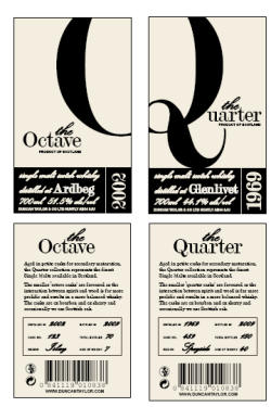 The Octave and Quarter Range provides a method of cask ownership that is totally unique and perfect for corporate and own label bottlings or personalizing your own bottles with your family, company or club name.
