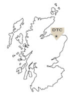Map of Scotland and where Duncan Taylor is based