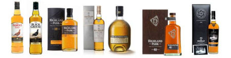 A wide selection of whiskies available from Edrington Group for Fathers' Day on the 21st June 2009