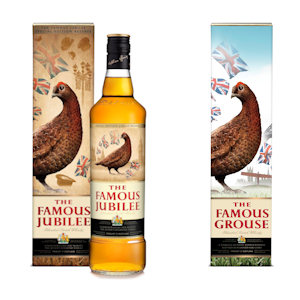 Famous Grouse with new packaging and also a new branded called the Famous Jubilee