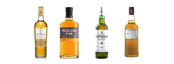 Fathers' Day Whisky Gifts | Ardmore Traditional Cask | Laphroaig 10 Year Old | The Macallan Gold | Highland Park 12 Year Old
