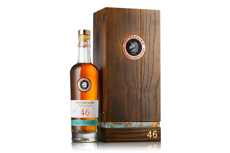 Rare Fettercairn 46 Years A Celebration Of Ageing Excellence. Showcases the distillery's rare maturing stock