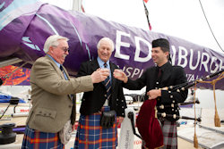 Edinburgh Inspiring Capital Clipper crew meet Diageo to toast record-breaking export figures