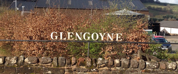 Glengoyne Sign on the road that sits between the Highlands and Lowland Whisky Regions