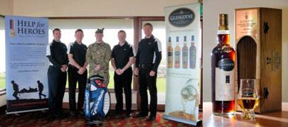 Rhodri Price (R&A), Alan Lawson (former Scotland scrum-half), Sergeant Craig Williamson (1 Scots),  Neil Boyd (Glengoyne) and Gavin Hastings (former Scotland full-back) launch The Glengoyne Auld Enemy Diamond Jubilee Golf Day at Fairmont St Andrews