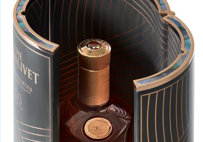 The Vintage 1967 design is inspired by the nature around The Glenlivet distillery in Scotland
