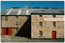 A view of the from of the Glenmorangie Distillery